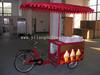 NEW DESIGN -- Moto Three-wheeled tricycle/trike/bicycle/carts with Solar/DC powered Ice cream freezer