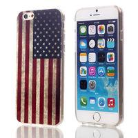 Folk style American flag design TPU case for iPhone 6