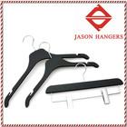 LGH003 Garment black plastic swivel coat hanger
