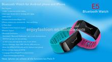 2014 LED display siliconr Bluetooth Smart Bracelet Sport healthy Watch Pedometer Sleep Monitor Black