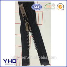zipper gun metal color with shiny slider