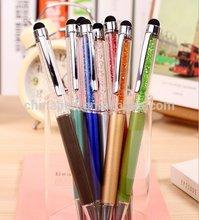 2014 hot selling crystal writing pen/ metal crystal writing pen
