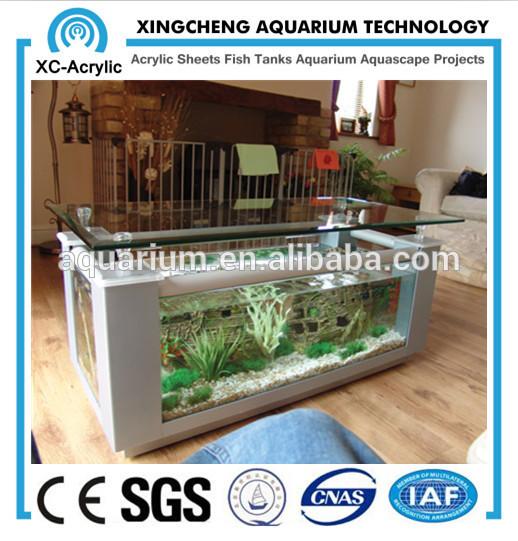 hohe Qualität und klar couchtisch aquariumPlastikscheibe