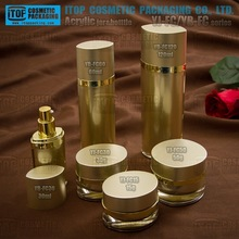 Wholesale elegant 100% quality inspection color customizable crystal clear eye shape oval acrylic cosmetic bottles and jars