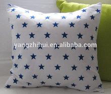 Cute Star cushion cover, Little Starry cushion cover,Navy Blue and White Star cushion cover