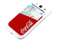 Change colorl Silicone Cell Phone Wallet with 3M Adhesive