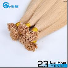 2014 Ali express escrow fusion keratin remy dark blonde flat tip hair