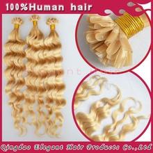 Virgin brazilian hair queen weave beauty,double drawn hair extensions #613 blond