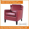 Sofá de cuero, acento, uso en el hogar, el estilo de italia, madera y cuero, tb-7228