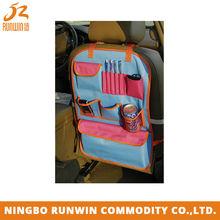 Blue car compartment storage organizer with pockets RW