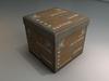 Printed cube folding storage ottoman