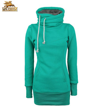 fashion designs lady hoody of tall hoodies with chimney collar sweatshirt