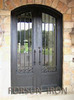 American style eyebrow top wrought iron entry doors