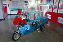 650W China cargo electric tricycle with cabin for adults