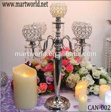 Cheap silver wedding candelabra centerpiece,wholesale candelabra wedding,crystal candelabra(CAN-002)