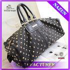 Wholesale black leather handbag,women shopping satchel tote bag,cheap lady leisure handbag