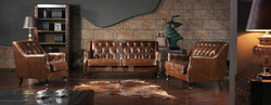 Home furniture modern design vintage leather sofa for sale A113