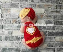 crocheted baby hat super hero hat,Hat Crochet Photo Prop Super Hero Set