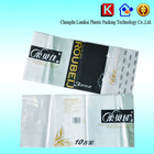 Plastic tissue bag, paper towel packing bag with handle, toilet paper plastic packaging bags