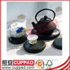 Hotsale antique slate stone cup coasters with handles for gifts