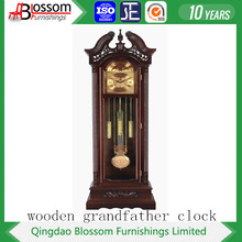 Shandong wooden grandfather clock with mechanical movement