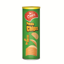 Cheese canned potato chips