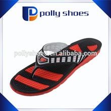 Cheap nice upper design strap massge sole double sole flip flop
