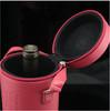 round pu wine carrier / round pu wine box