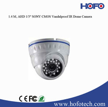 AHD dome camera with 1.4 M vandal proof Low Illumination