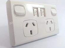 main product 3 square pin plug for australian market