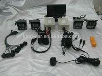 24 voltage truck parking system 7 inch monitor 4 reverse camera 8 ultrasonic parking sensor