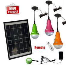 New shape 3 bulbs solar home light, solar light for home use
