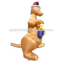 inflatable air blown Christmas toy/inflatable kangaroo for Christmas decoration
