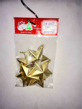2014 Hot selling gold Christmas star plastic decoration plastic outdoor christmas decorations