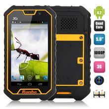 5 Inch Runbo X6 Waterproof MTK6589T Quad Core 2GB 32GB Mobile Phone ip67