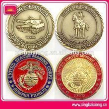 New design metal marine corps millitary coins with diamond cut edge