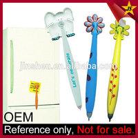 Custom Rubber Soft PVC Novelty Pen with Magnet