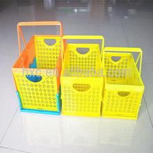 handle plastic shopping basket plastic laundry basket small plastic basket