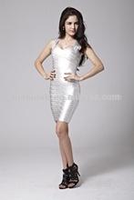 silver bandage dress bodycon dress celebrity boutique dress