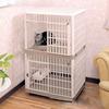 The cat cage cat house villa Japan/IRIS , IRIS Pet double large cat cage PP resin