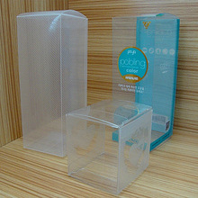 Custom transparent plastic packaging box for product packing