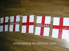 Cheap Decorative PE England Flag for Asian cup Australia 2015(TW-F017)