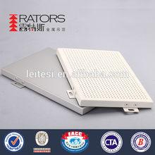 Fashionable perforated aluminum wall cladding