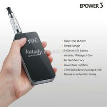 Most popular 4G flash memory and power bank epower 3 vapor king mod battery
