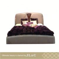 JB75-01 Modern Leather antique four poster wooden bed for bedroom set from JLC furniture