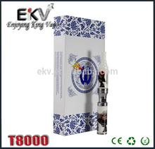 blue and white porcelain electronic cigarette starter kit made of ceramics