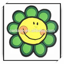 Sunflowers flowers smiling face cartoon skid resistance pad