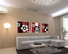 modern group flower canvas printing art from photo