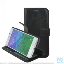 New matte PU Wallet imitation leather Case for samsung GALAXY Alpha