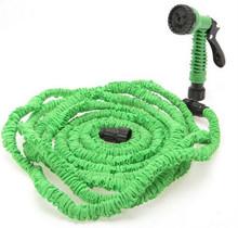 Working Lenght 15Metres Plastic Connector 50FT Green Garden Water Hose+Spray Gun EU